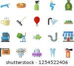 color flat icon set concrete... | Shutterstock .eps vector #1254522406