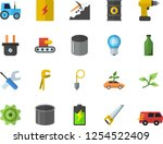 color flat icon set tool flat... | Shutterstock .eps vector #1254522409