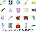 color flat icon set saw flat... | Shutterstock .eps vector #1254524893