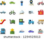 color flat icon set pickup... | Shutterstock .eps vector #1254525013