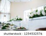 dinner table serving. white... | Shutterstock . vector #1254532576