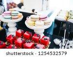 festive candy bar serving.... | Shutterstock . vector #1254532579