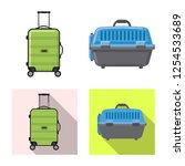 Isolated Object Of Suitcase And ...