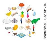 point of interest icons set.... | Shutterstock .eps vector #1254534946