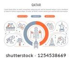 linear banner of qatar.... | Shutterstock .eps vector #1254538669