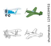 vector design of plane and... | Shutterstock .eps vector #1254539953