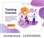 landing page template of... | Shutterstock .eps vector #1254540040