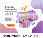 landing page template of... | Shutterstock .eps vector #1254540043