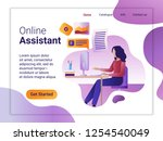 landing page template of online ... | Shutterstock .eps vector #1254540049