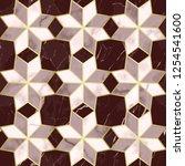 luxury marble mosaic star tile... | Shutterstock .eps vector #1254541600