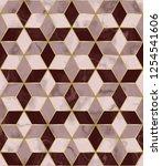 luxury marble mosaic star tile... | Shutterstock .eps vector #1254541606
