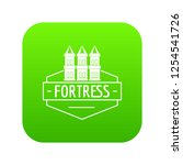 fortress icon green vector... | Shutterstock .eps vector #1254541726