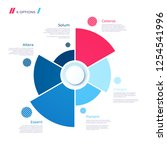 pie chart concept with 6 parts. ... | Shutterstock .eps vector #1254541996