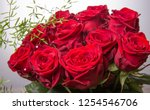 luxury bouquet made of red... | Shutterstock . vector #1254546706