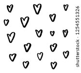 abstract seamless heart pattern.... | Shutterstock .eps vector #1254551326