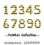 number collection  line | Shutterstock .eps vector #125455559