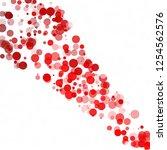 bubbles circle dots unique red...   Shutterstock .eps vector #1254562576