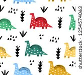 seamless pattern with hand... | Shutterstock .eps vector #1254574063