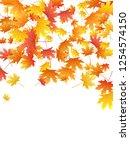 maple leaves vector background  ... | Shutterstock .eps vector #1254574150