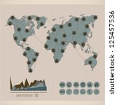 illustration of social media... | Shutterstock .eps vector #125457536
