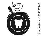 daily dental floss icon. simple ... | Shutterstock .eps vector #1254577963