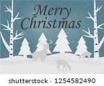 merry christmas and happy new... | Shutterstock .eps vector #1254582490