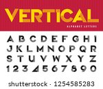 vector of modern alphabet... | Shutterstock .eps vector #1254585283