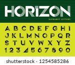 vector of modern alphabet... | Shutterstock .eps vector #1254585286