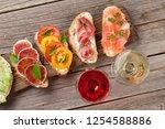 brushetta or traditional... | Shutterstock . vector #1254588886