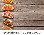 brushetta or traditional... | Shutterstock . vector #1254588910