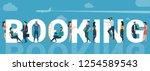 online booking flat design... | Shutterstock .eps vector #1254589543