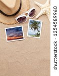 travel vacation background... | Shutterstock . vector #1254589960