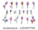 stock vector collection of... | Shutterstock .eps vector #1254597700