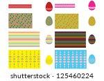 ornament for easter egg stickers | Shutterstock .eps vector #125460224