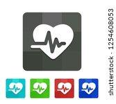 ekg   app icon   Shutterstock .eps vector #1254608053