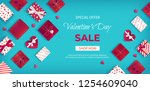 special offer valentine's day... | Shutterstock .eps vector #1254609040