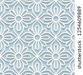 cutout paper pattern  lace...   Shutterstock .eps vector #1254609889