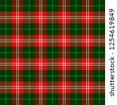 scottish pattern in black  red... | Shutterstock .eps vector #1254619849