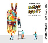 international human rights day... | Shutterstock .eps vector #1254622189