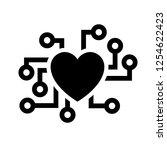 love symbol. valentine's day... | Shutterstock .eps vector #1254622423