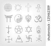 religious symbolism. grey... | Shutterstock .eps vector #125462309