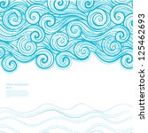 blue wave background | Shutterstock .eps vector #125462693