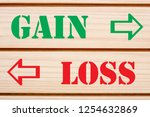words gain and loss written on... | Shutterstock . vector #1254632869