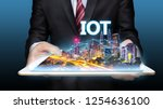 smart city iot concept ... | Shutterstock . vector #1254636100