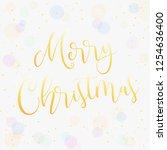 merry christmas greeting vector ... | Shutterstock .eps vector #1254636400