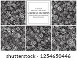 vector christmas decoration set ... | Shutterstock .eps vector #1254650446