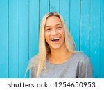 beautiful blonde woman | Shutterstock . vector #1254650953