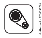 timing belt icon  isolated.... | Shutterstock .eps vector #1254651226