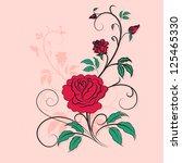 stylish ornament rose ... | Shutterstock .eps vector #125465330