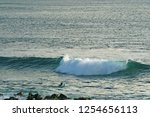 man swimming on surfboard for... | Shutterstock . vector #1254656113